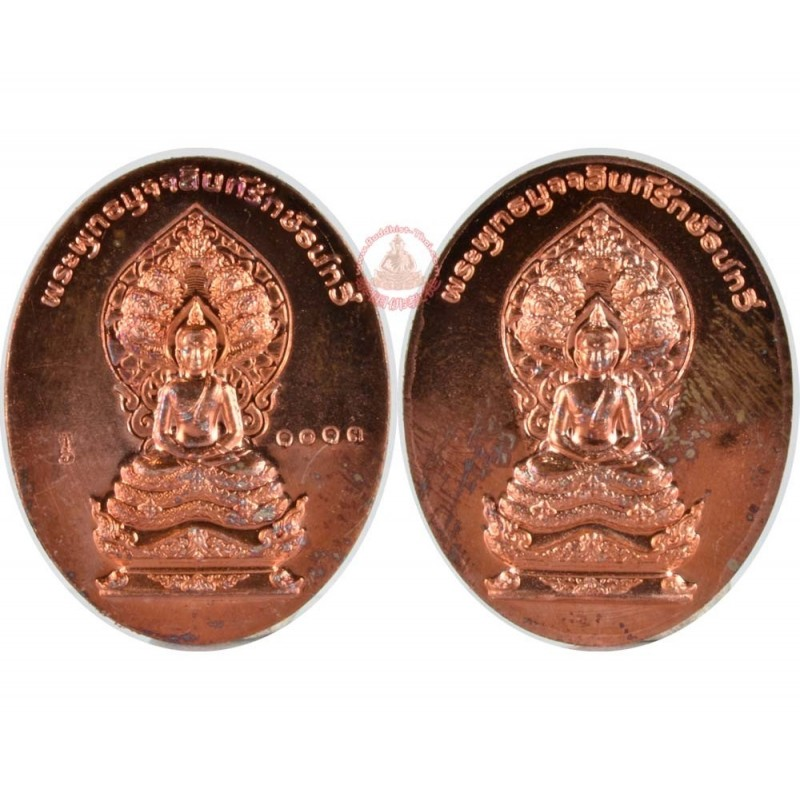 Phra Muchalinda Rakthenatawee (NakProk) (BE 2557) 2 Side, Mix Metal
