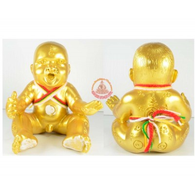 古曼童金身,阿赞尼空加持(佛历2555 Sao-ha)Gold Plated, Seat Big Version