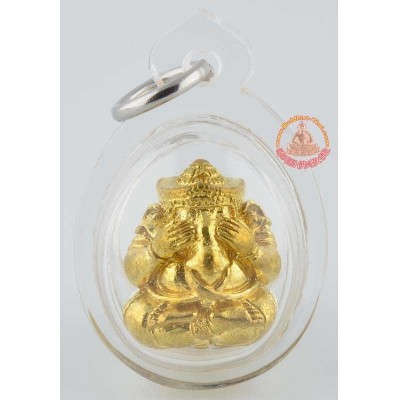 LP Hong Phra PiKaNet Pidta (B.E 2555) Gold Plated 2cm (Casing)