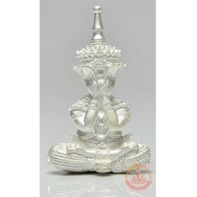 Phra Pidta (B.E 2558) Mass Chanted in Wat TraiMit Silver S/n:90 with Silver Takrut