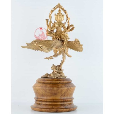 S/n:319 Phra Prom Riding Heaven Swan (2558) 20 Monks Mass Chanted, 18 cm Statue