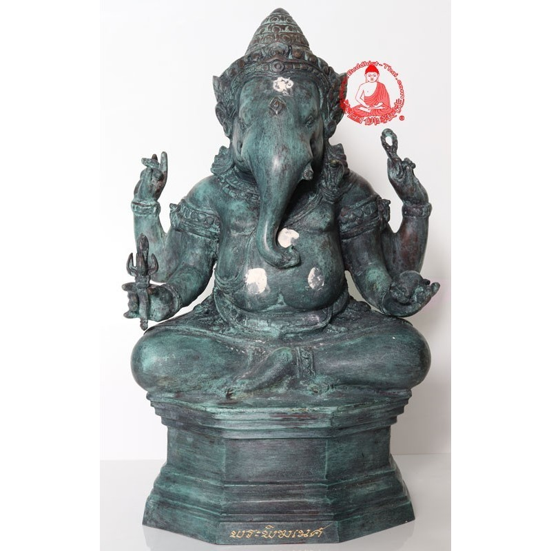 S/n:139 Phra PiKaNet LP Hong (2552) 9 inches Lap Ganesh Statue Height 39 cm