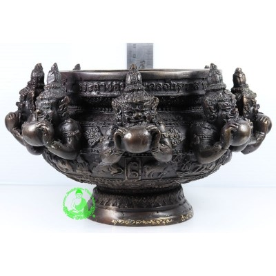 Phra Rahu Incense Burner Wat Khao Hor Ajahn KhunPan & LP Glun (BE 2548) 5 inches