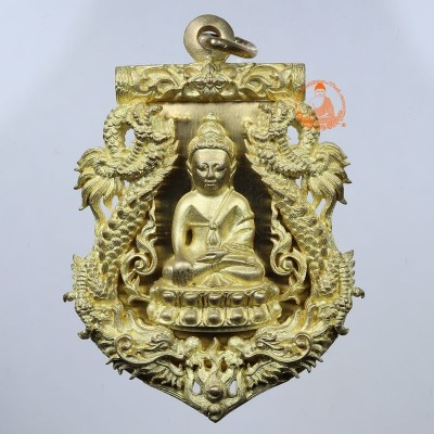 S/n:1078 Phra Kring Wat BoWon (B.E 2554) (Gold Plated & Gold Takrut)