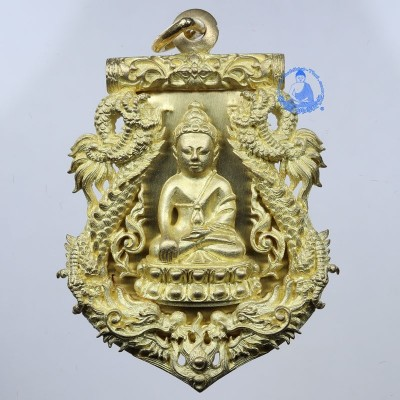 S/n:799 Phra Kring Wat BoWon (B.E 2554) (Gold Plated & Gold Takrut)