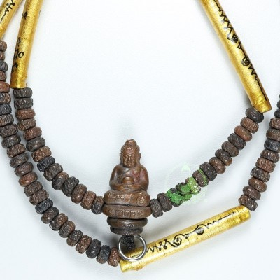 S/n:1640 Nawa Phra Kring Magical necklace (B.E 2552) Bless 5 Months by LP Kalong Wat KhaoLam
