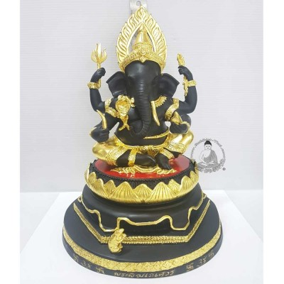 LP Hong Phra PiKaNet (2547) 5 Inches Lap Gold Leaf Pasted Statue Wat Su San Tung Mon Surin