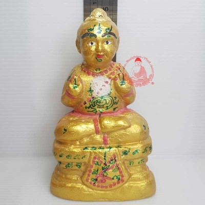 KuManThong 5 Inches Statue (BE 2548) Bless By LP Yam Wat Sam Ngam, Handwritten Talisman