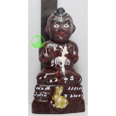 KuManThong 6 Inches Statue 2557 Bless By LP Yam Wat Sam Ngam, Handwritten Talisman