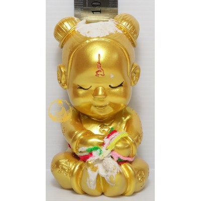 KuManRee Statue Ajahn NiKom 2563 Gold Painted, Seat Version